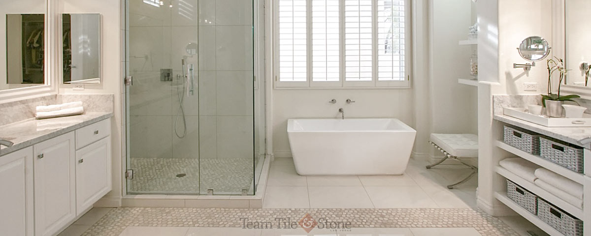 Remodeled Bathrooms With Tile Las Vegas Bathroom Remodel Masterbath Renovations Walkin Shower .