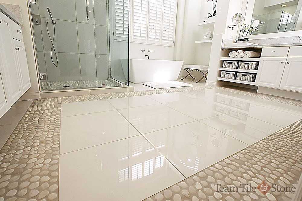 marble inlay stone floor