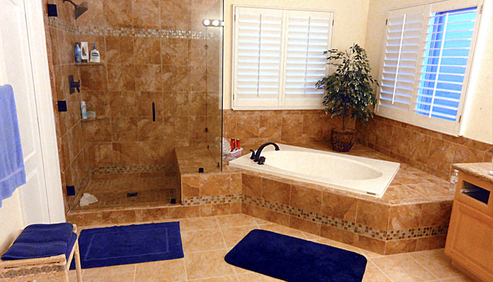 Las vegas bathroom remodel masterbath renovations walk in for Remodeling companies